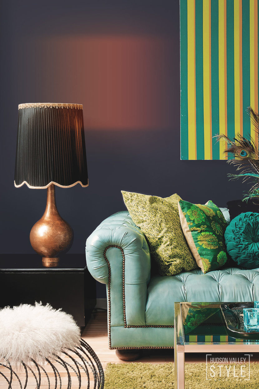 Hudson Valley Style Magazine Trend Projection: Escape with 2018's Top Trending Color.