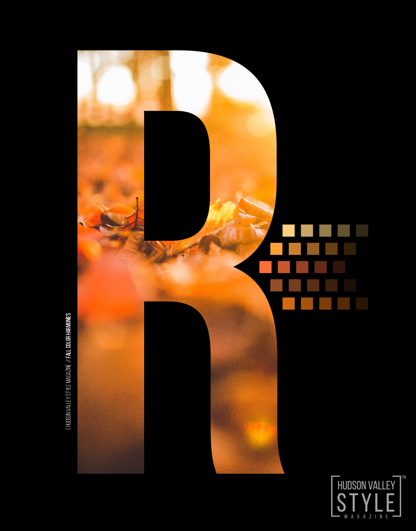 Hudson Valley Style Magazine / Fall Color Harmonies/ Maxwell Alexander Design / Typography / Graphic Design