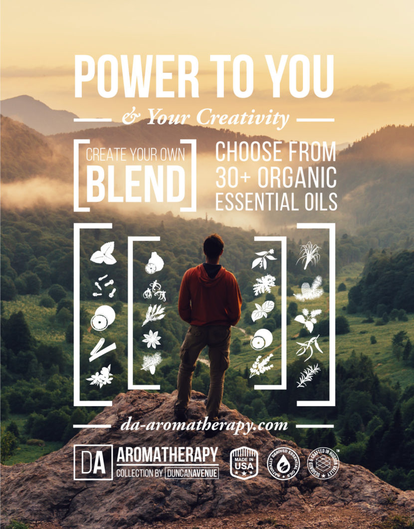Power to You and Your Creativity: Create Your Own Essential Oil Blend with DA Aromatherapy Collection