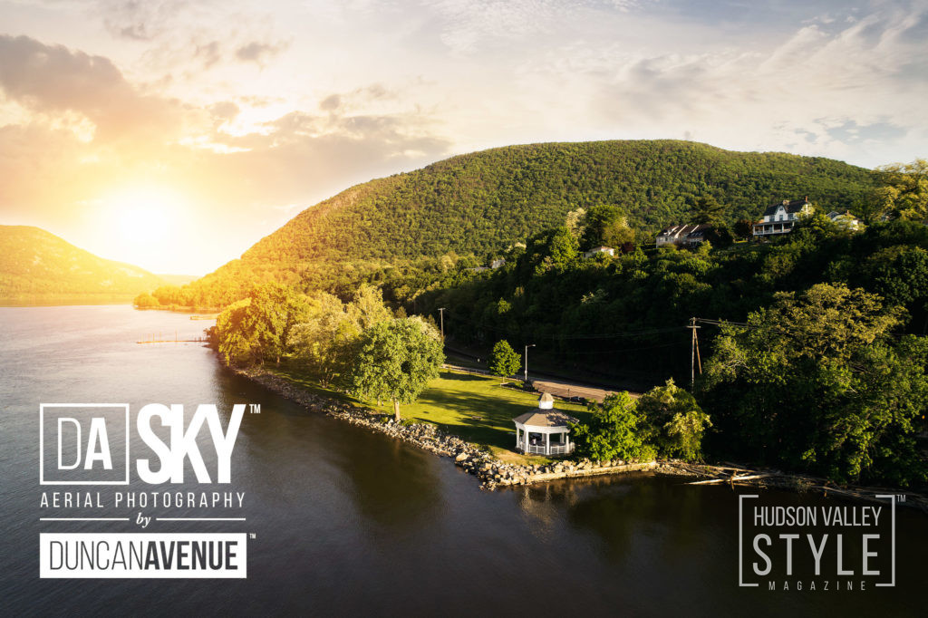Bannerman's Island and Cornwall Landing by DA SKY – Aerial Photography in Hudson Valley