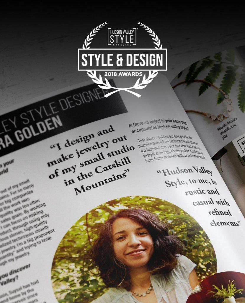 2018 Hudson Valley Style Magazine Awards Nomination: Sara Golden