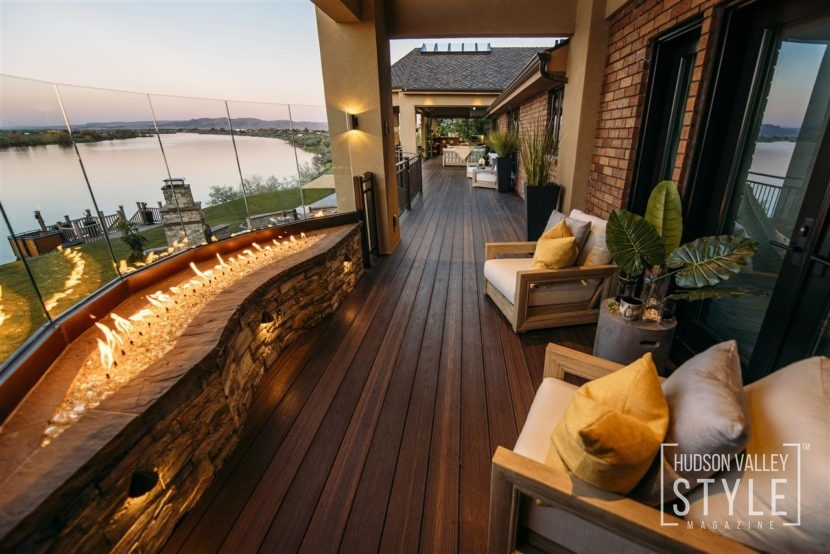 Envision Distinction composite decking in Rustic Walnut.