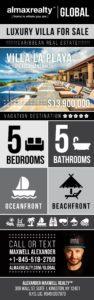 Luxury Villa For Sale: Villa La Playa, Terre Basse, Saint Martin, Caribbean Real Estate