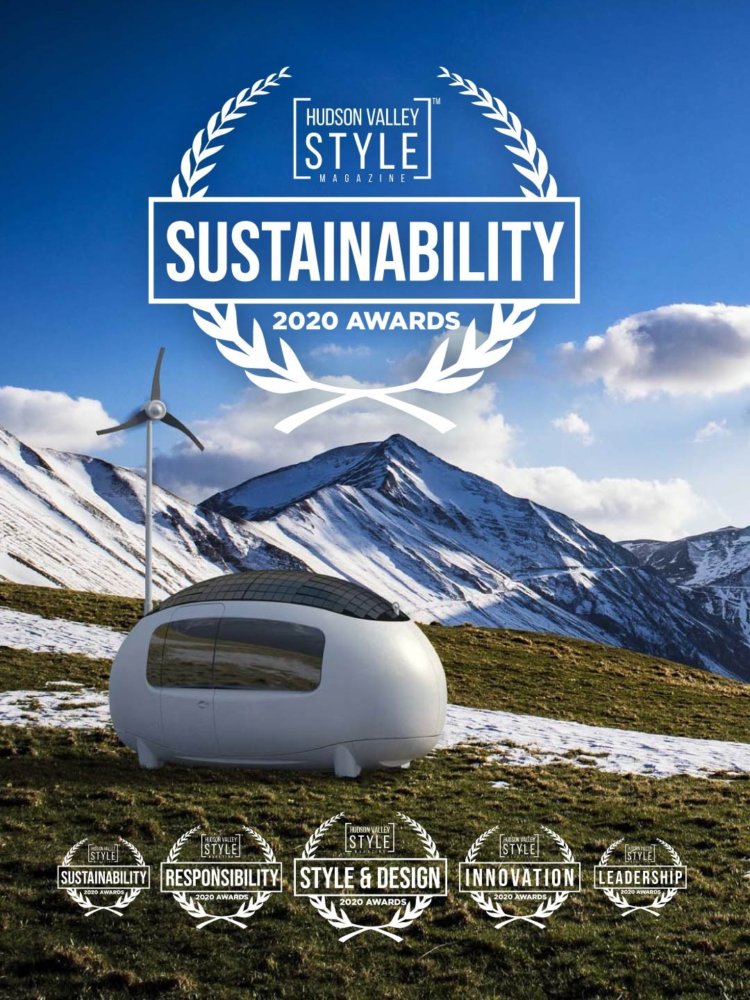 2020 Hudson Valley Style Magazine Awards Nomination: EcoCapsule - Sustainable off-grid micro-home - Sustainability and Social Responsibility