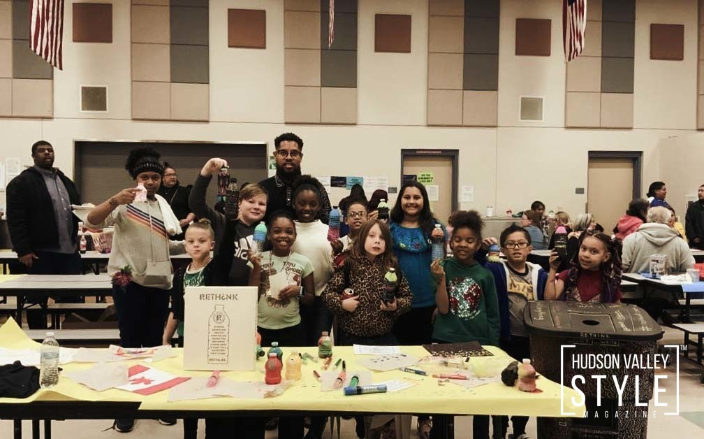 Recycling and Upcycling art activity for Priest Elementary in North Las Vegas