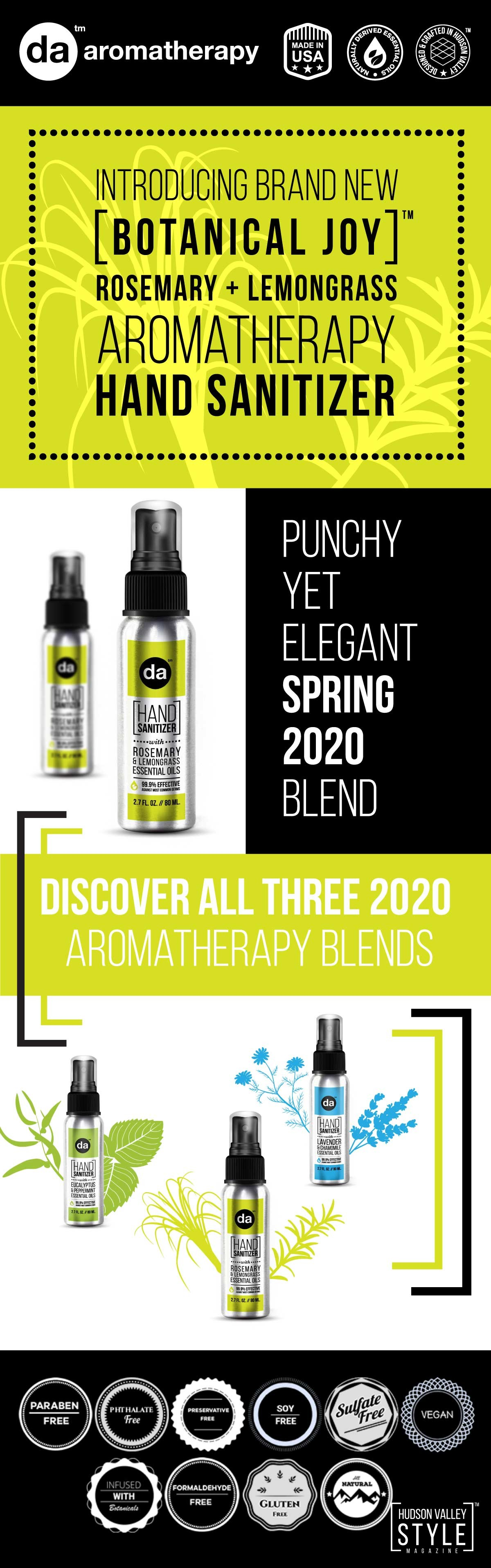 Infographic - Celebrate Spring with DA Aromatherapy's Brand New Lemongrass and Rosemary Blend
