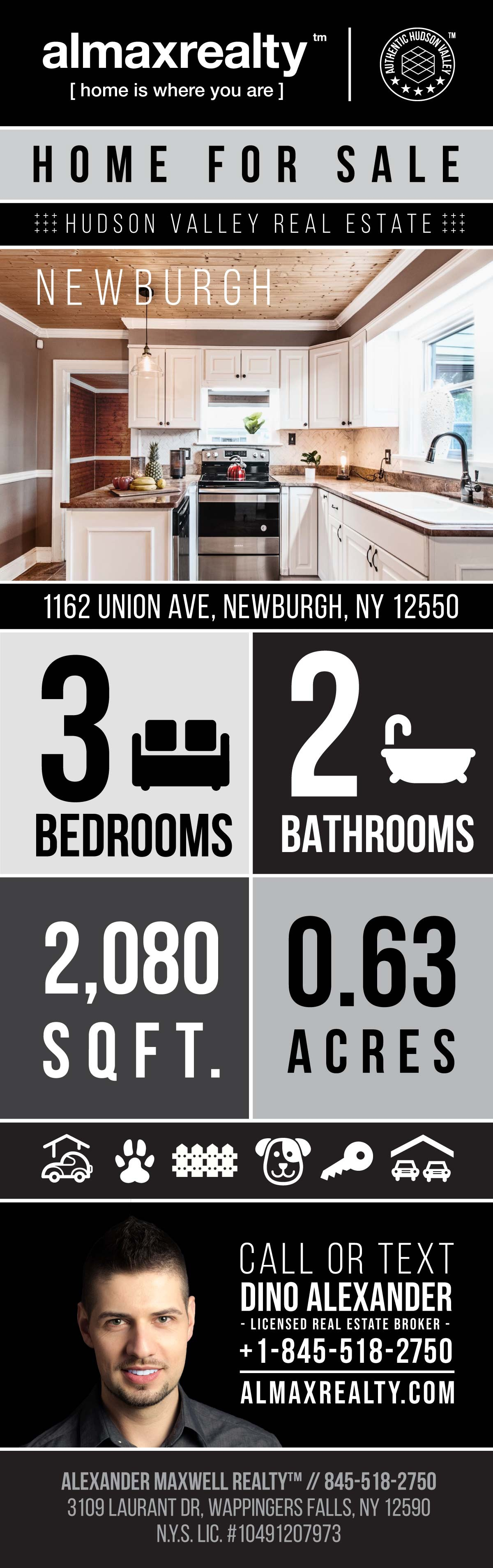 Infographic - Hudson Valley Home for Sale in Newburgh, NY - Alexander Maxwell Realty - Dino Alexander