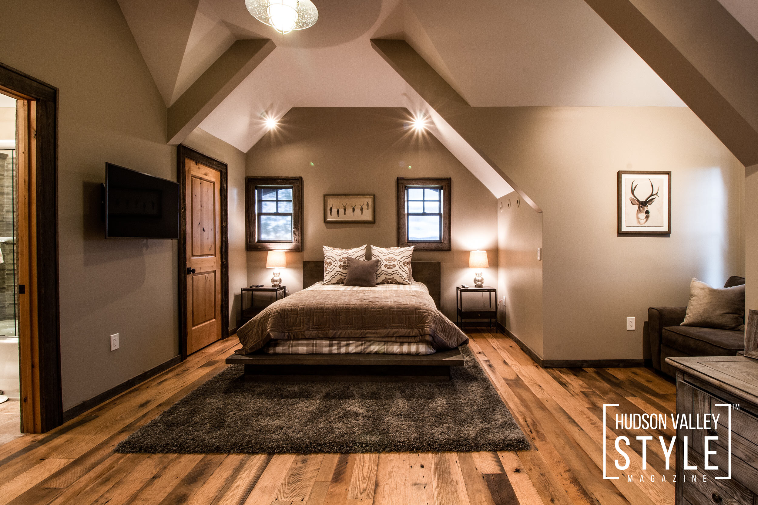 How to Create a Rustic Lodge Vibe in Your Hudson Valley Home in 5 Simple Steps - Hudson Valley Style Living with Kei Kullberg - Photo Courtesy of Duncan Avenue Group