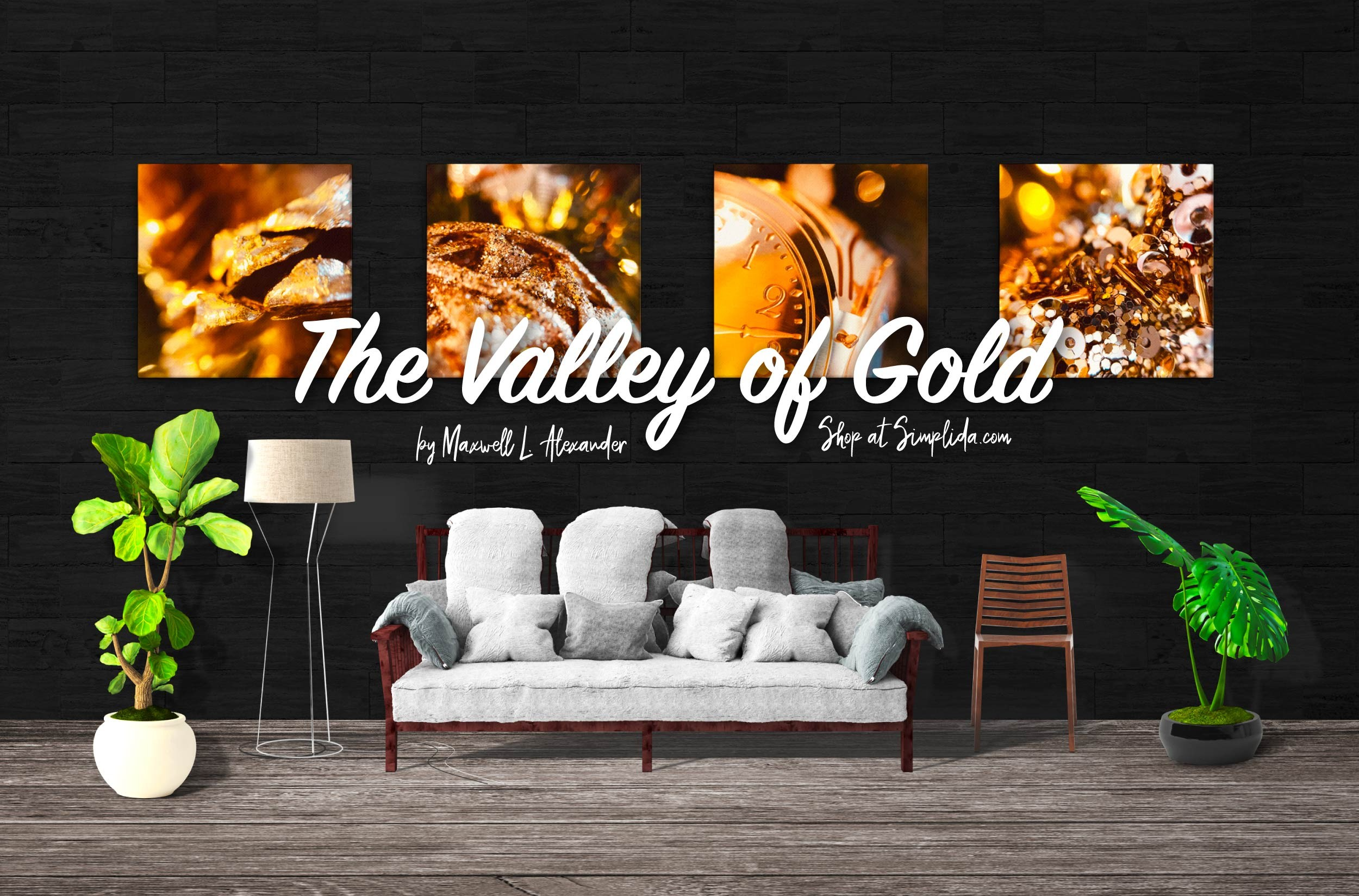 The Valley of Gold - Explore Holiday Wall Art Decor Ideas at Simplida.com