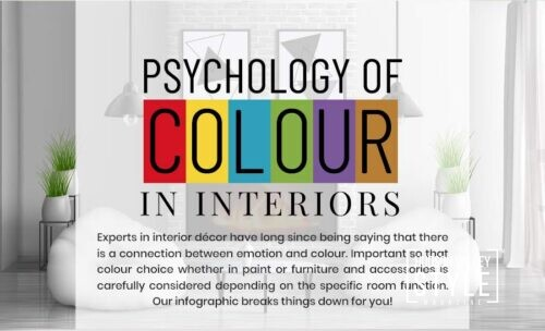 Psychology of Color in Interior Design – Hudson Valley Style Infographic
