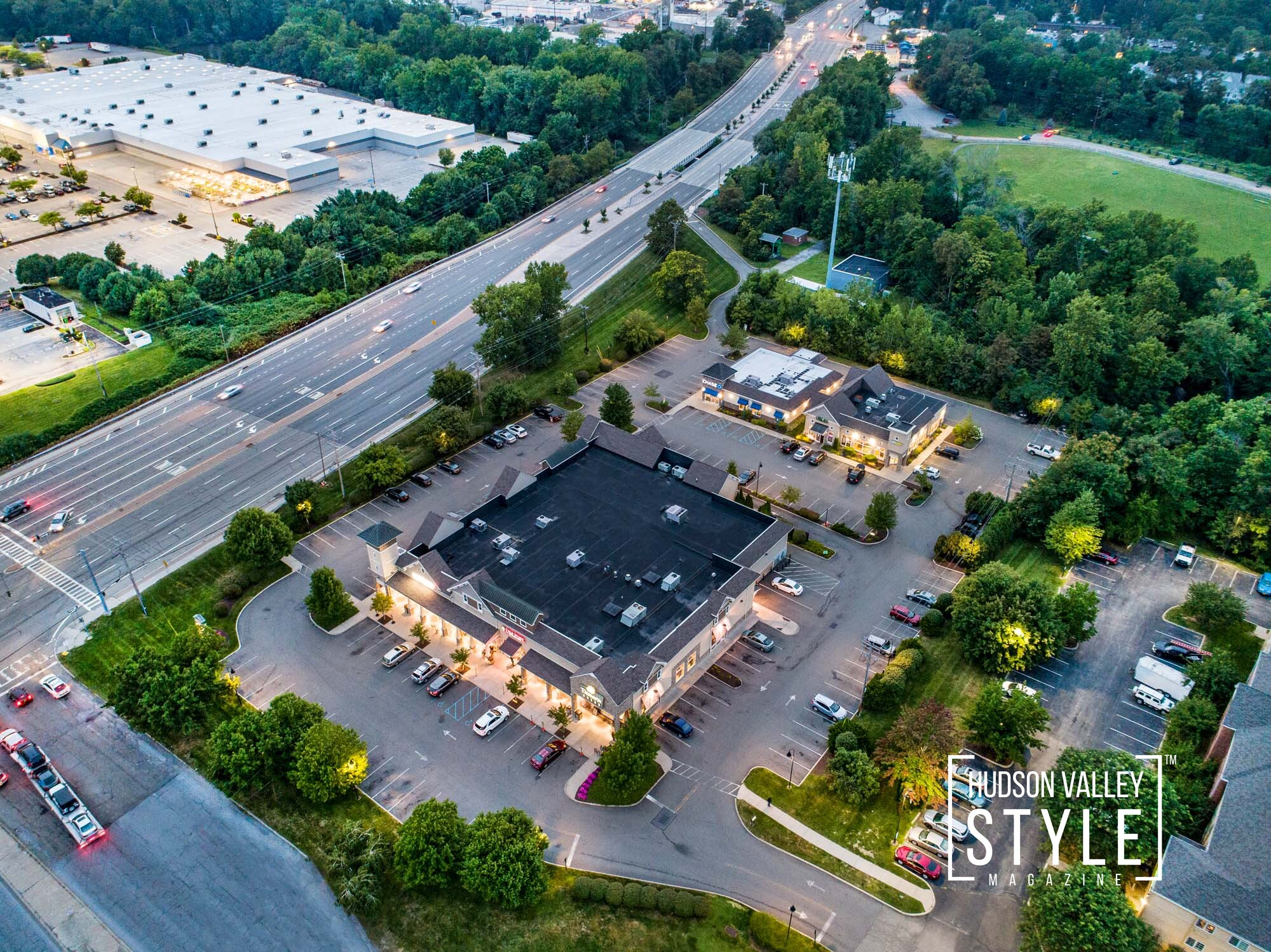 Commercial Real Estate Photography Project in Fishkill, NY – Twilight Photography – Aerial Drone Photography – HDR Photography – Duncan Avenue Studios, New York – Hudson Valley