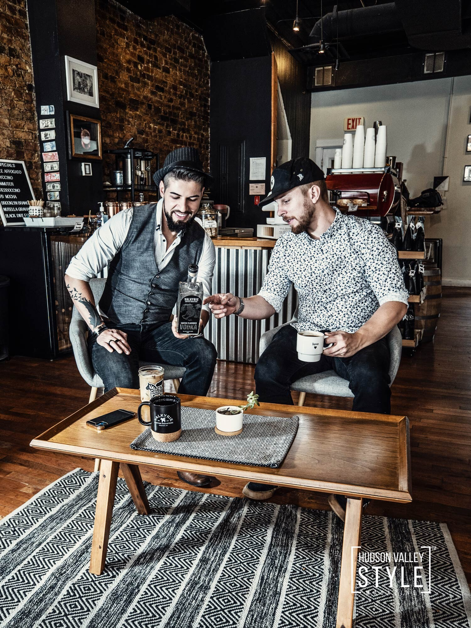 The best coffee-flavored vodka created in Hudson Valley, NY - Exploring Hudson Valley with Dino Alexander (CEO and Principal Broker at AlmaxRealty) – Lifestyle/Brand Photography by Maxwell Alexander, Duncan Avenue Studios