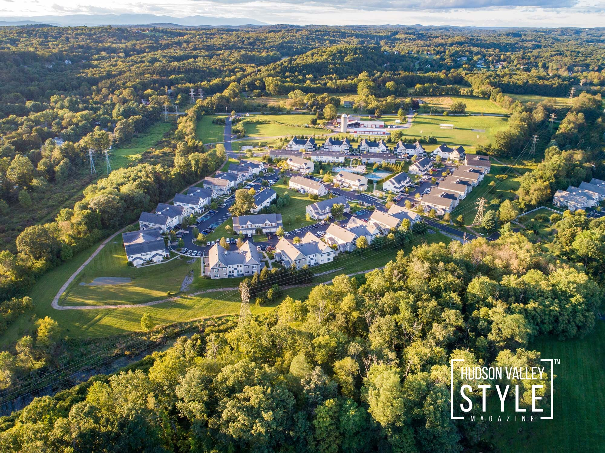 Hudson Valley Real Estate and Aerial Photography Galley: Brookside Meadows Luxury Rental Community in Pleasant Valley, NY – Real Estate Photography Project by Duncan Avenue Studios