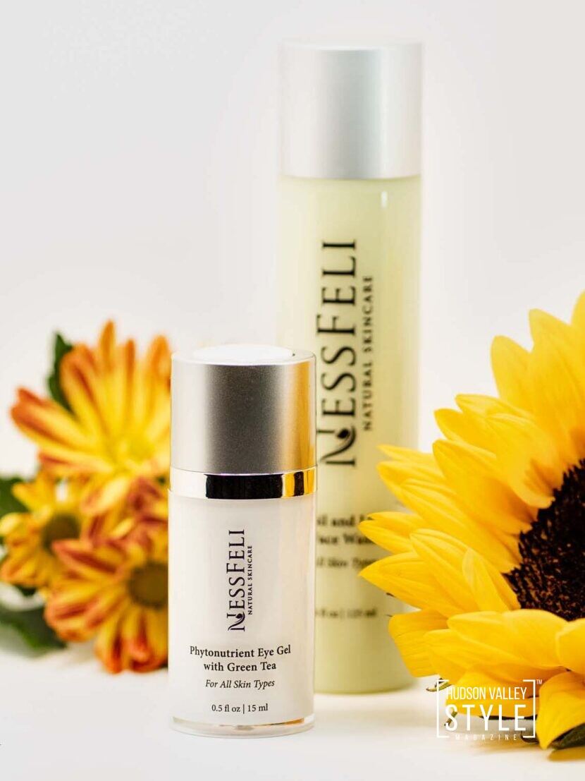 Phytonutrient Eye Gel with Green Tea by NessFeli Natural Skincare – Hudson Valley Style Gift Guide – product Photography by Duncan Avenue Studios, New York