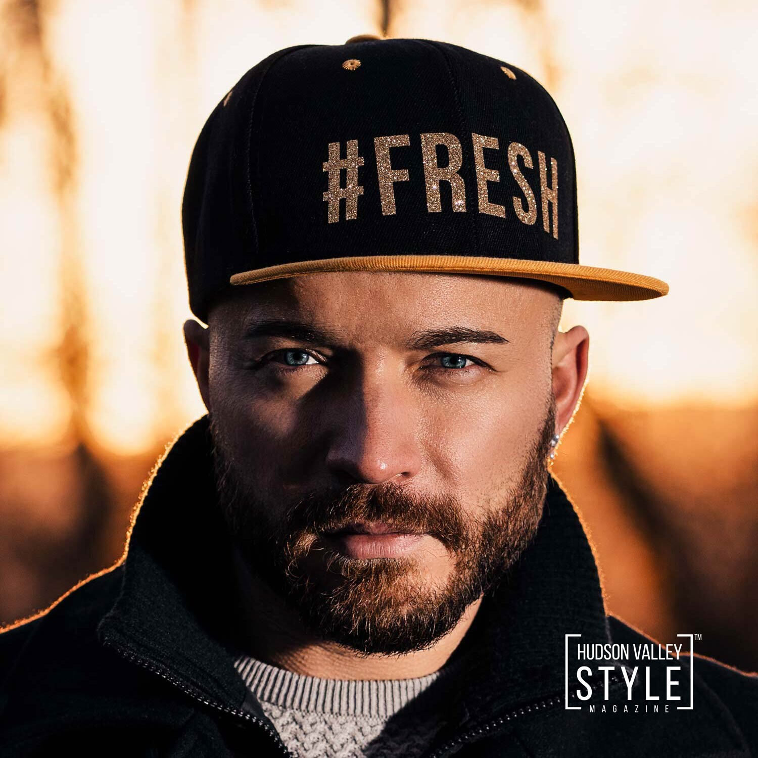 The Original #FRESH Gold Snapback Hat by Designer, Fitness Model, and Bodybuilding Coach Maxwell Alexander – Gifts for Him – Gift Ideas