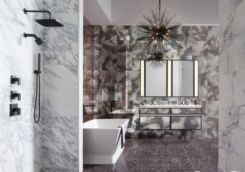 Focus your bathroom remodel with a striking visual statement